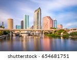 tampa  florida  usa downtown... | Shutterstock . vector #654681751
