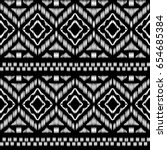 aztec essence tribal seamless... | Shutterstock .eps vector #654685384
