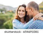 mature romantic couple... | Shutterstock . vector #654691081