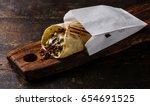 doner kebab gyros shawarma beef ... | Shutterstock . vector #654691525