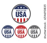 vector set of made in the usa...   Shutterstock .eps vector #654693835