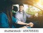 careful driving. beautiful... | Shutterstock . vector #654705331