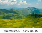 summer mountains. meadows and... | Shutterstock . vector #654710815