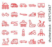 vehicle icons set. set of 25... | Shutterstock .eps vector #654714367