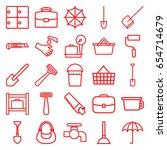 handle icons set. set of 25... | Shutterstock .eps vector #654714679