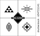 aztec tribal vector elements...