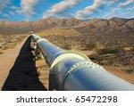 Pipeline In The Mojave Desert.