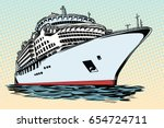 cruise ship vacation sea travel.... | Shutterstock .eps vector #654724711