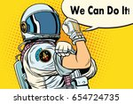 we can do it astronaut.... | Shutterstock .eps vector #654724735