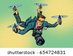People Journalist Quadcopter...