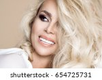 portrait of a beautiful ... | Shutterstock . vector #654725731