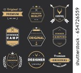 collection of premium badge tag ... | Shutterstock .eps vector #654726559