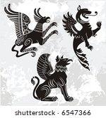 griffins set | Shutterstock .eps vector #6547366