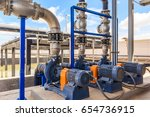 wastewater treatment plant. a... | Shutterstock . vector #654736915
