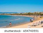 salou  tarragona  spain   april ... | Shutterstock . vector #654743551