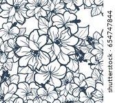 abstract elegance seamless... | Shutterstock . vector #654747844