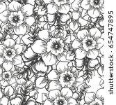abstract elegance seamless... | Shutterstock . vector #654747895