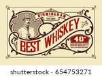 old label for packing | Shutterstock .eps vector #654753271