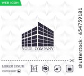 buildings icon for company | Shutterstock .eps vector #654759181