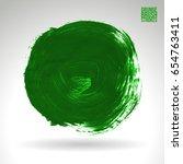 green brush stroke and texture. ... | Shutterstock .eps vector #654763411