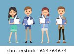 the people have a popular... | Shutterstock .eps vector #654764674