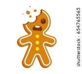 Cartoon Gingerbread Man With...