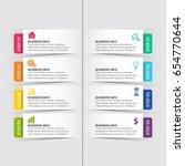 modern infographic options...   Shutterstock .eps vector #654770644