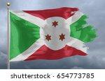 burundi flag with torn edges in ... | Shutterstock . vector #654773785