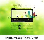 vector website design template | Shutterstock .eps vector #65477785