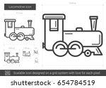 locomotive vector line icon... | Shutterstock .eps vector #654784519