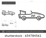 formula one car vector line... | Shutterstock .eps vector #654784561