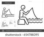 fishing vector line icon...   Shutterstock .eps vector #654788395