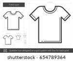 t shirt vector line icon...   Shutterstock .eps vector #654789364