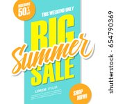 big summer sale. this weekend... | Shutterstock .eps vector #654790369