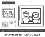 family portrait vector line... | Shutterstock .eps vector #654792685