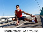 portrait of young athlete man... | Shutterstock . vector #654798751