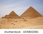 pyramids of queens and pyramid... | Shutterstock . vector #654802081