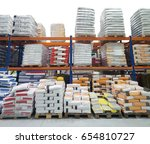 construction warehouse with... | Shutterstock . vector #654810727