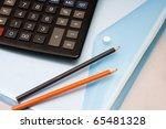 calculator and folder | Shutterstock . vector #65481328