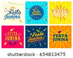 festa junina celebration... | Shutterstock .eps vector #654813475
