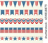 set of five different flags... | Shutterstock .eps vector #654818875