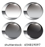 set of round backgrounds with a ... | Shutterstock .eps vector #654819097