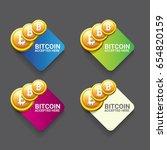 vector bitcoin accepted icon.... | Shutterstock .eps vector #654820159