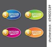 vector bitcoin accepted icon.... | Shutterstock .eps vector #654820189