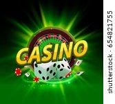 casino dice roulette banner... | Shutterstock .eps vector #654821755