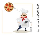 mustachioed chef illustration....   Shutterstock .eps vector #654822685