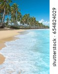 beautiful tropical beach with...   Shutterstock . vector #654824029