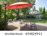 Backyard Garden With Bright...