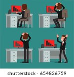 the businessman is indignant... | Shutterstock .eps vector #654826759
