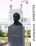 Small photo of June 6th, 2017, Cork, Ireland - Cork College University, bust of George Boole, the first Professor of Mathematics in UCC whose algebra became the foundation of modern computer science.